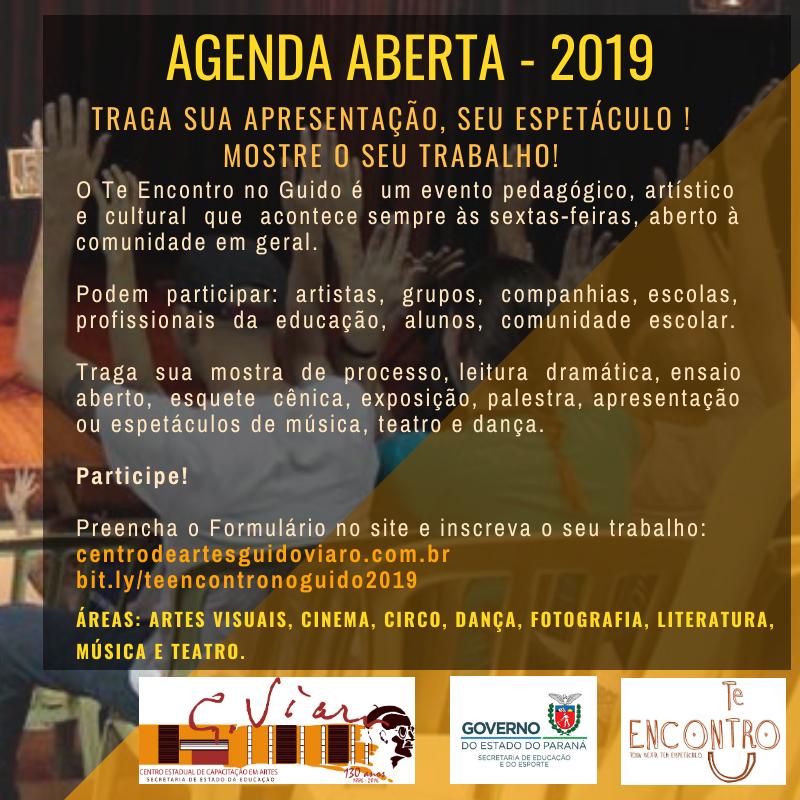 2019 - Agenda Aberta Te Encontro no Guido